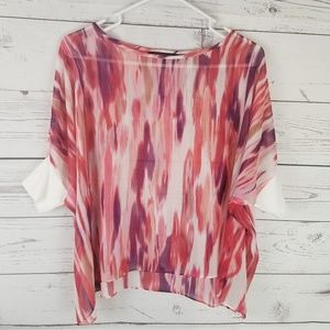 Express Airbrush Painted Dolman Sleeve top